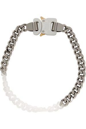 1017 ALYX 9SM Men Necklaces - Silver Metal & Nylon Chain Necklace