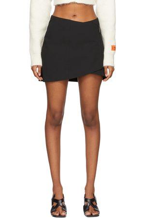 Heron Preston Women Mini Skirts - Wrap Zip Skirt