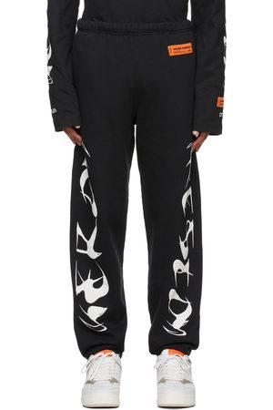 Heron Preston Men Sweats - Black HP Brushed Lounge Pants