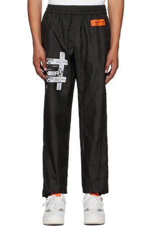 Heron Preston Men Sweats - Black Tyvek Crinkled Lounge Pants