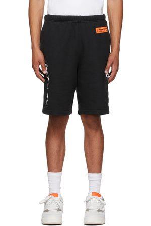 Heron Preston Men Shorts - Black HP Brushed Shorts