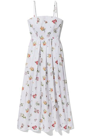 COCO Women Party Dresses - Skinny Strap Poof Dress in Mini Tossed Bouquet