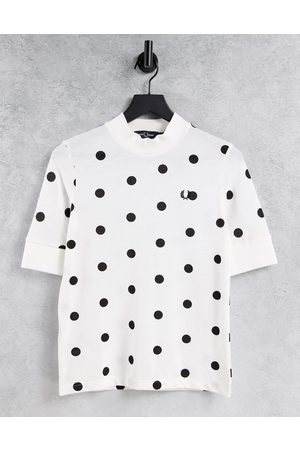 Fred Perry Women T-shirts - Spot pique tshirt in