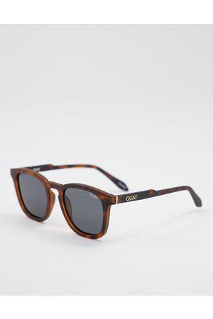 Quay Australia Quay Jackpot unisex round sunglasses in tort with smoke lens