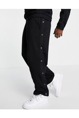 ASOS Set oversized straight leg sweatpants with snaps in