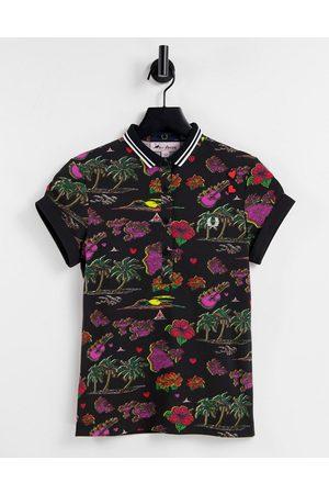 Fred Perry Women Polo Shirts - X Amy Winehouse polo shirt in Hawaiian print-Multi