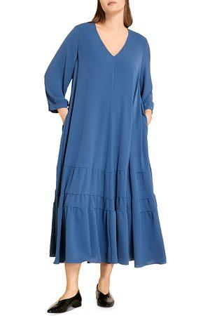 Persona by Marina Rinaldi Women Midi Dresses - Darwin Tiered Midi Dress