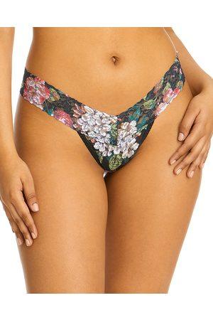 Hanky Panky Women Thongs - Low-Rise Printed Lace Thong