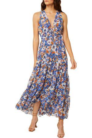 MISA Women's Dominika Floral Sleeveless Maxi Dress