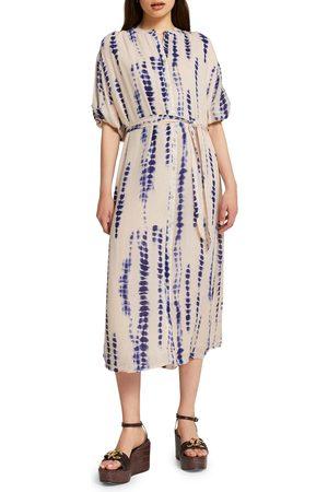 River Island Women's Tie Dye Midi Shirtdress