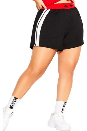 City Chic Plus Size Women's On Track Stretch Cotton Shorts