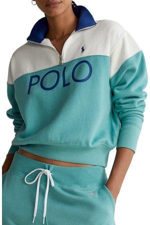 Polo Ralph Lauren Women's Colorblock Logo Quarter Zip Sweatshirt