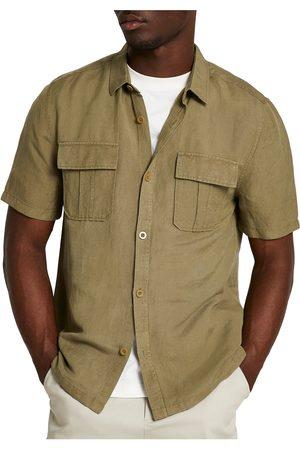 River Island Men's Utility Short Sleeve Button-Up Shirt