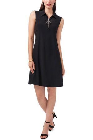 Chaussmoi Women's Sleeveless Quarter Zip Dress