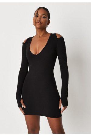 Missguided Women Bodycon Dresses - Cut Out Shoulder Bodycon Mini Dress