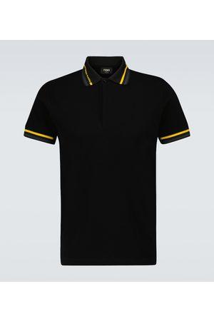 Fendi Short-sleeved cotton polo shirt