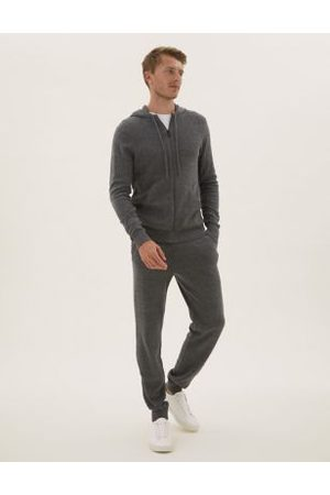 Marks & Spencer Men Hoodies - Pure Cotton Knitted Hoodie