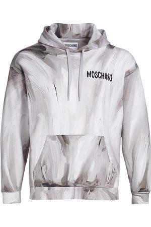 Moschino Painted Logo Hoodie