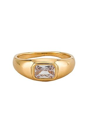 Shashi Beam Ring in Metallic .
