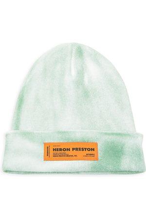 Heron Preston Logo Patch Tie-Dye Beanie