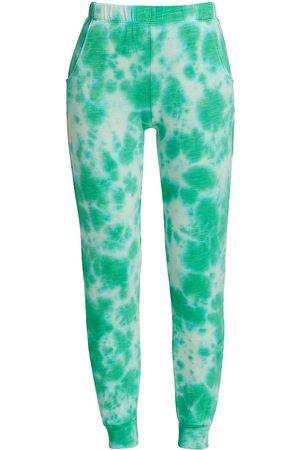 MONROW Black Out Tie-Dye Jogger Pants