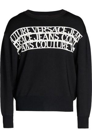 VERSACE Institutional Logo Jacquard-Knit Sweatershirt