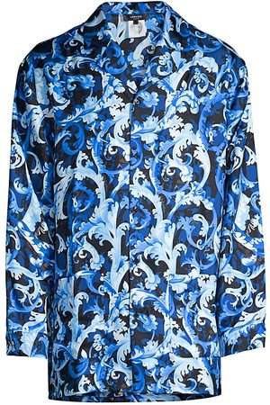 VERSACE Baroque-Print Silk Shirt