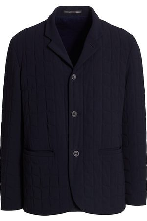 Armani Quilted Button-Up Blazer
