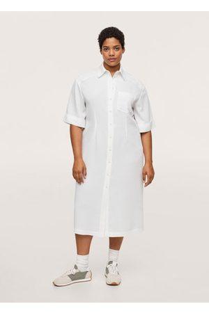 MANGO Shirt textured dress