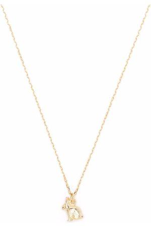 Alex Monroe Women Necklaces - 18kt yellow Teeny Tiny Rabbit pendant necklace