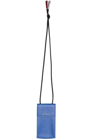 Marni Logo-print leather phone holder