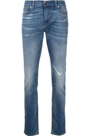 7 for all Mankind Men Slim - Distressed-finish jeans