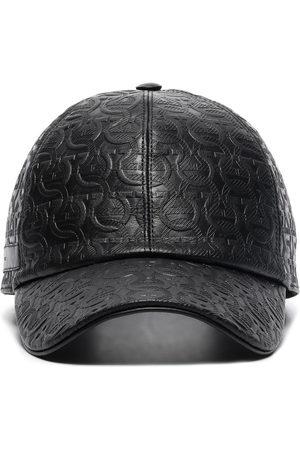 Salvatore Ferragamo Men Caps - Gancini leather cap