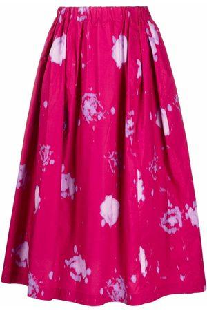 Marni Women Printed Skirts - Abstract-print high-waisted skirt