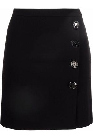 Pinko Women Mini Skirts - High-waisted button-detail miniskirt