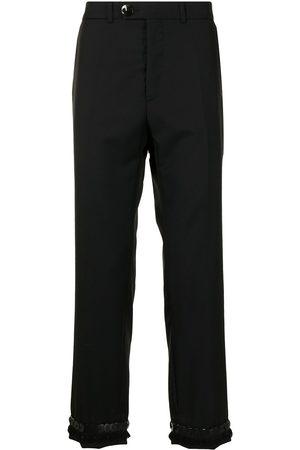 Namacheko Men Straight Leg Pants - Straight-leg virgin wool trousers