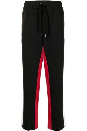 Ports V Straight Leg Pants - Side-stripe straight trousers