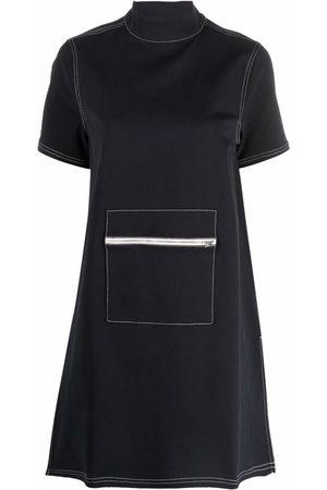 SUNNEI Women Dresses - Shortsleeved zipped-pouch shift dress