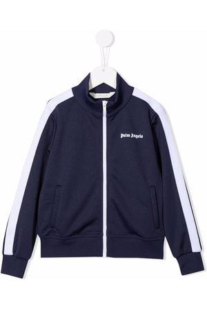 Palm Angels Side stripe zip jacket