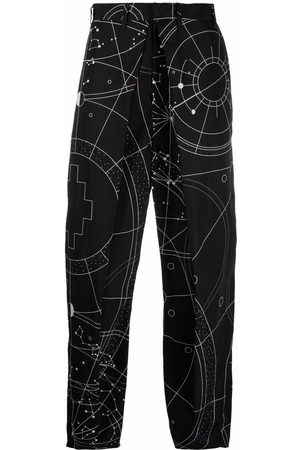 Marcelo Burlon County of Milan All over Astral pleated chinos