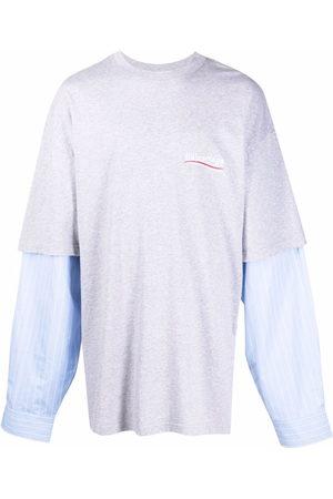 Balenciaga Men T-shirts - Oversized layered T-shirt - Grey