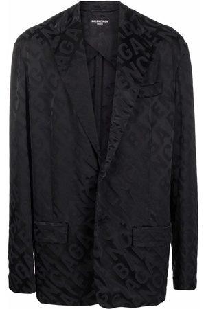 Balenciaga Men Blazers - Logo jacquard blazer