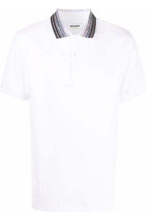 Missoni Men Polo Shirts - Contrast-collar polo shirt