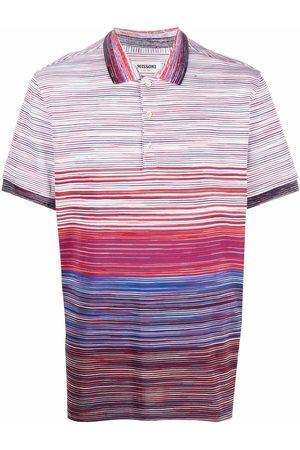Missoni Men Polo Shirts - Abstract-stripe polo shirt