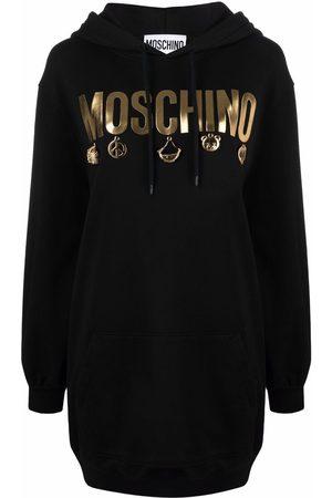Moschino Icon charm hoodie dress