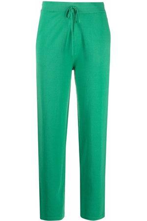 12 STOREEZ Women Straight Leg Pants - Straight-leg drawstring trousers