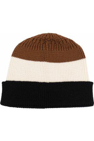 TAGLIATORE Men Beanies - Striped knit beanie - Neutrals