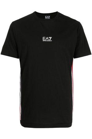 EA7 Men Short Sleeve - Logo-print logo-trim short-sleeve T-shirt