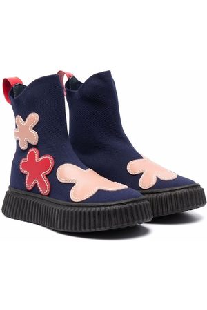 Marni Boys Ankle Boots - Floral-patch ankle-length boots