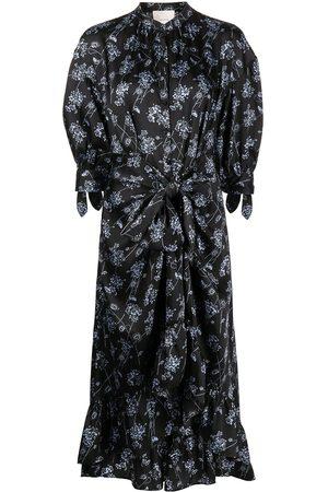 Cinq A Sept Women Printed Dresses - Floral-print wrap dress